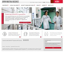 Industrial Biotechnology - Enzyme Innovation - Genencor