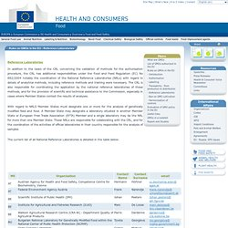 DG SANCO 04/09/09 food safety - Rules on GMOs in the EU - Reference Laboratories - List of all National Reference Laboratories