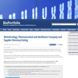 Life Science Company Database