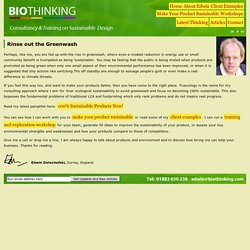 Biothinking -- Truly Sustainable Design