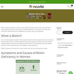Biotin 10000 MCG Capsules for Women Hair, Skin & Nails Growth – Roncuvita