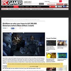 BioWare on why you have to kill 300,000 Batarians before Mass Effect 3 starts