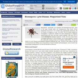 Bioweapons: Lyme Disease, Weaponized Ticks