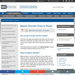 Bipolar Disorder (Easy to Read)