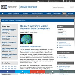 Bipolar Youth Show Distinct Pattern of Brain Development