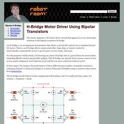 Bipolar Transistor HBridge Motor Driver