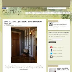 DIY Design Community « Keywords: recyled, recyling, cardboard, wall