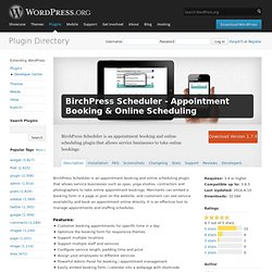 BirchPress Scheduler - Appointment Booking & Online Scheduling