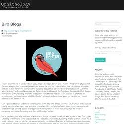 Bird Blogs – Ornithology
