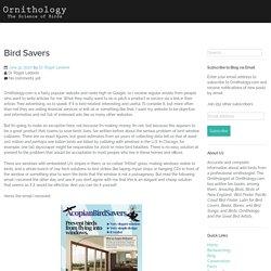 Bird Savers – Ornithology