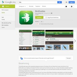 BirdGuides – Android-appar på Google Play