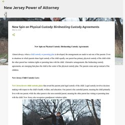 New Spin on Physical Custody: Birdnesting Custody Agreements