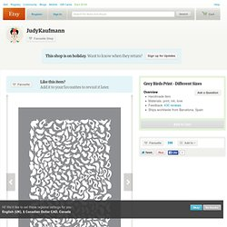 Grey Birds Print by Judykaufmann on Etsy