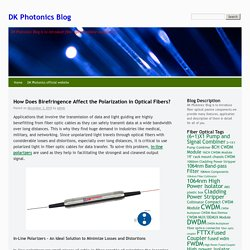 How Does Birefringence Affect the Polarization in Optical Fibers?