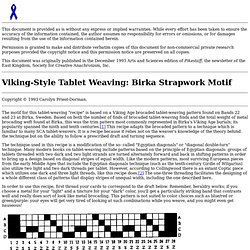 Birka-Style Tablet Weaving Recipe