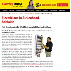Experienced Electrician in Birkenhead, Adelaide