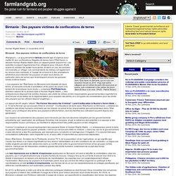 Birmanie : Des paysans victimes de confiscations de terres