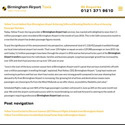 Yellow Travel Jubilant Over Birmingham Airport Achieving