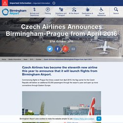 2015 - Birmingham Airport Website