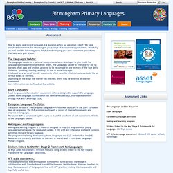 Primary Language Assessment