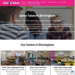 Tutors Birmingham - Tuition to help children and teenagers achieve