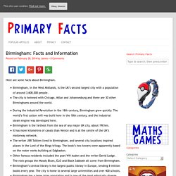 Birmingham: Facts and Information
