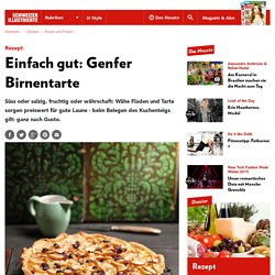 Rezept Betty Bossi: Genfer Birnentarte – Schweizer Illustrierte