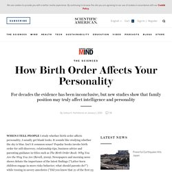 How Birth Order Affects Your Personality