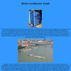 Birth Certificate Truth