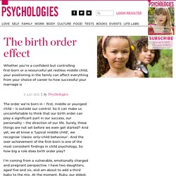 The birth order effect