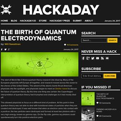 The Birth of Quantum Electrodynamics