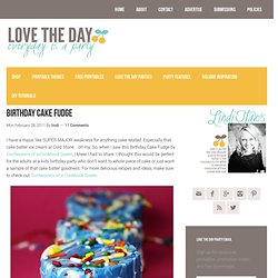 birthday cake fudge | Love The Day