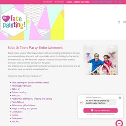 Kids Birthday Party Entertainment: Face Painting for Children's Parties