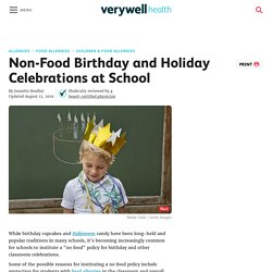 Non-Food Birthday and Holiday Celebrations at School
