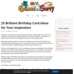Birthday Card Ideas: 25 Easy Peasy Card Designs to Gift Your Loved Ones
