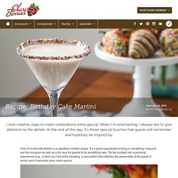 How to make a Birthday Cake Martini