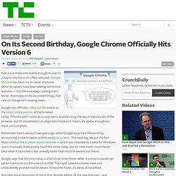 On Its Second Birthday, Google Chrome Officially Hits Version 6