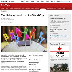 The birthday paradox at the World Cup