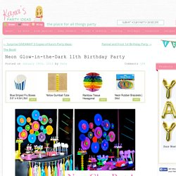Neon Glow In The Dark Teen Birthday Party {Dance, Girl, Decor, Ideas}