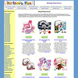 Birthday Party Favors, Kids Birthday Favors, Favor Kits, Children's Birthday Favor Kits
