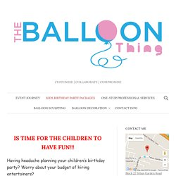 BEST kids party planner in Singapore