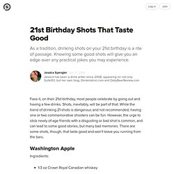 21st Birthday Shots That Taste Good: Recipes to Celebrate the Big Two-One Without Making You Sick | Suite101.com