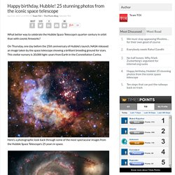 Happy birthday, Hubble! 25 stunning photos from the iconic space telescope