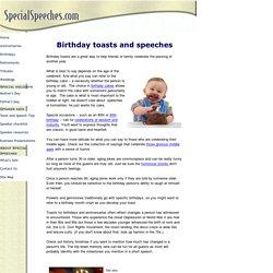 Birthday toasts and speeches