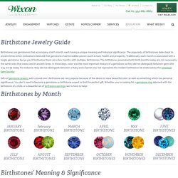 Learn gemstone colors for birthdays