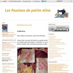 BISCORNU PAS A PAS - Les Passions de petite ALINE