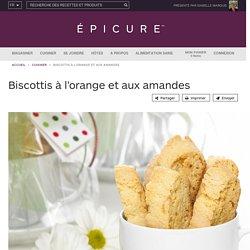 Biscottis à l'orange et aux amandes