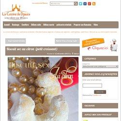 Biscuit sec au citron / gateau algerien
