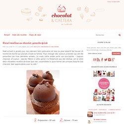 Biscuit moelleux au chocolat, ganache épicée