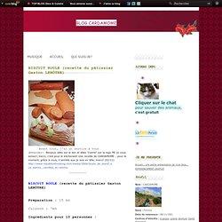 BISCUIT ROULE (recette du pâtissier Gaston LENÔTRE)